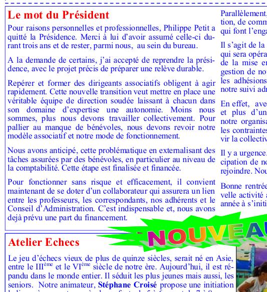 Télécharger Amicalement Votre Revue de l'ALC à Cachan, N°62 septembre 2019