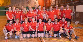 L'équipe de Badminton