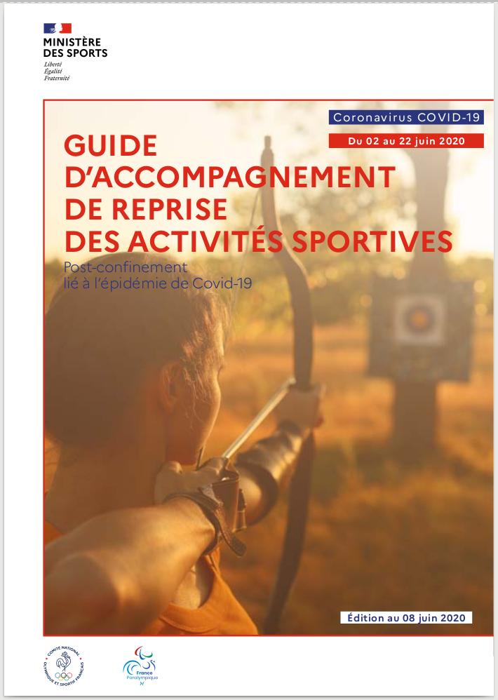 Extrait du guide officiel du Ministère des Sports pour la reprise de l'activité Escrime