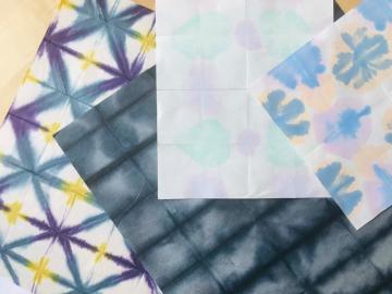 Télécharger le tuto de réalisation de papier décoratif personnalisé et unique, papier Shibori